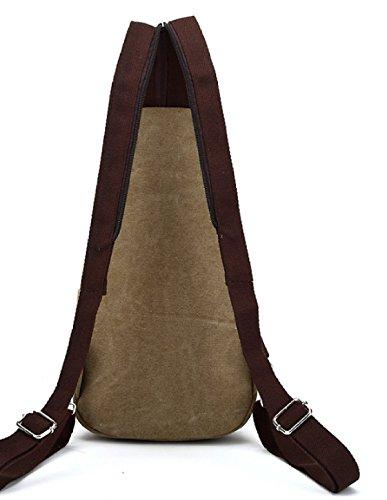 BULAGE Paket Paket Brusttaschen Rucksäcke Männer Leder Leinen Schultern Zurück Lässig Einfach Leicht Großzügig Khaki