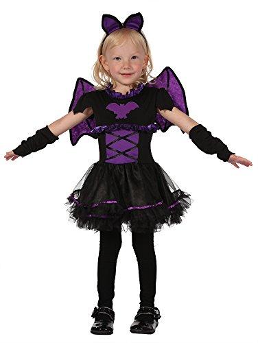 Bristol Novelty Fledermaus Kostüm für - Vampir Mädchen Kleinkind Kostüm