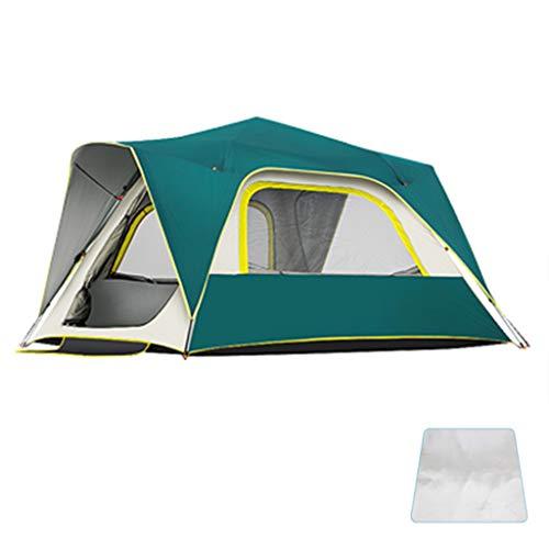 Zelt ADKINC 3-Personen, Kuppelzelt für Camping mit Tragetasche von Wakeman Outdoors (Campingausrüstung für Wandern, Rucksacktouren und Reisen) - Blau, Grün