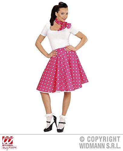 60's And 50's Und Kostüme Roll Rock (ROCK - 50er JAHRE - pink, mit Halstuch, 60er Jahre Rockn Roll Formation Tanzen)