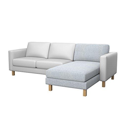 Soferia - Bezug fur Ikea KARLSTAD Anbau Recamiere, Naturel Light Grey
