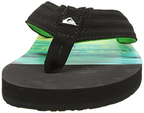 Quiksilver Basis, Tongs Homme Multicolore (BLACK/GREEN/GREEN)