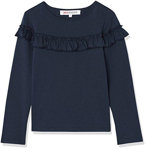 RED WAGON Mädchen Sweatshirt mit Rüschen, Blau (Navy), 134 (Herstellergröße: 9 Jahre)