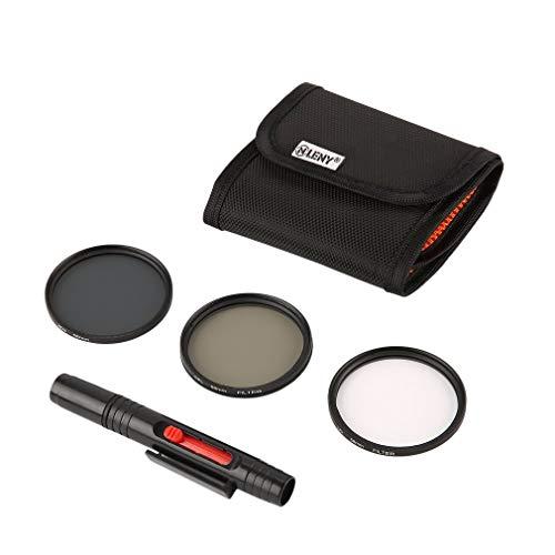 Preisvergleich Produktbild Ndier Onleny 52 / 58 / 62 / 67 / 72 / 77mm UV CPL ND4 Filter Aufbewahrungstasche + Reinigungs Feder 5Stk Kit Elektronische Produkte