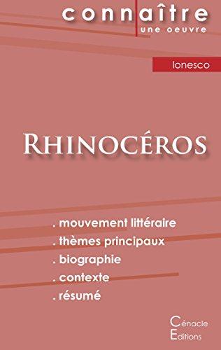 Fiche de lecture Rhinocéros de Eugène Ionesco (analyse littéraire de référence et résumé complet) par Eugène Ionesco