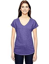6750VL enclume femme Tri-Blend T-shirt col en V
