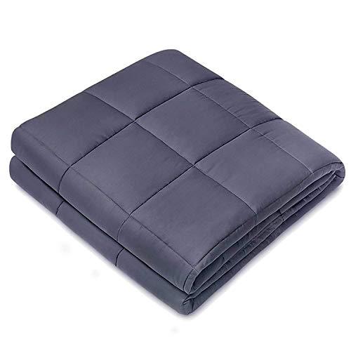 JPARR Gewichtete Schwere Decke Für Erwachsener Zwischen 60-90kg, Ideal für Entspannung, Besseren Schlaf (120x180cm, 6.8kg)