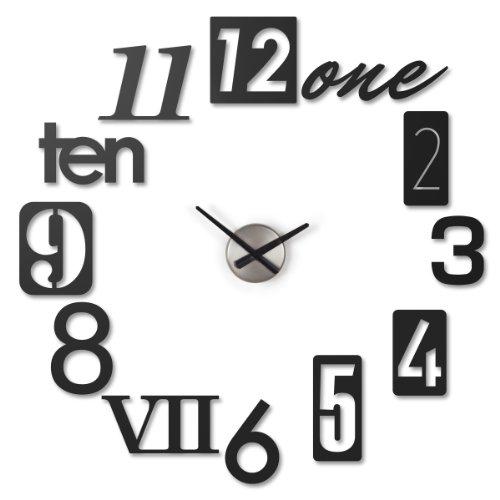 Umbra 118430-040 - Orologio da parete Numbra, colore: Nero