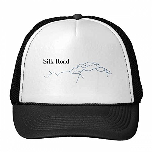 DIYthinker Alt Journey to The Silk Road Map Trucker-Mütze Baseballkappe Nylon-Mesh-Kühler Hut justierbare Kappe Kinder -
