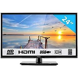 HKC 24C2NB 60.50 cm (24 Pouces) LED téléviseur (HD Ready, Triple Tuner DVB-T2 / T/C / S2 / S, CI+, Lecteur multimédia Via Port USB