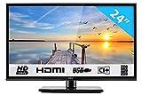 HKC 24C2NB 60.50 cm (24 Pouces) LED téléviseur (HD Ready, Triple Tuner DVB-T2 / T/C...