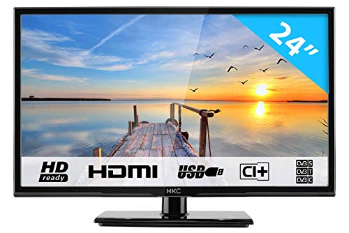 Hkc 24c2nb: 60,5 cm (24 pollici) televisore (hd ready, triple tuner, ci+, hdmi, lettore multimediale via usb 2.0)