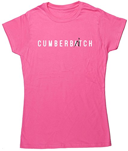 Hippowarehouse Cumberbitch Damen Fitted Short Sleeve T-Shirt Gr. XX-Large, Rose (T-shirt Fitted Baby-womens)