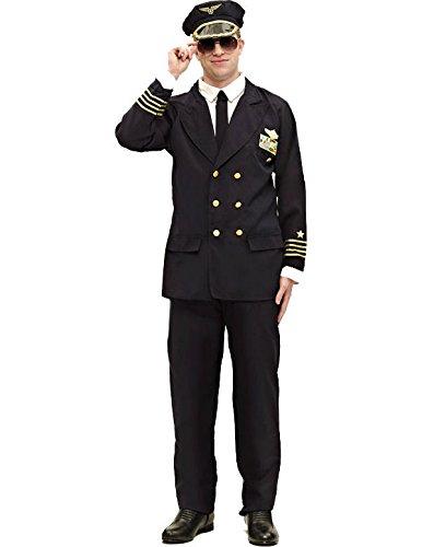 Pilot Kostüm Karneval Fasching Herren Verkleidung Mottoparty Standard