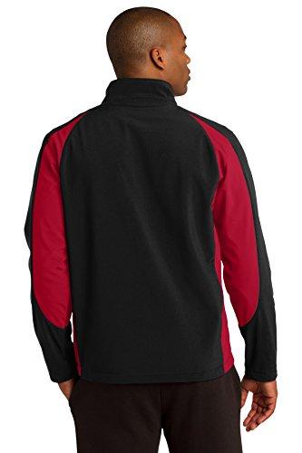 Sport-tek Colorblock Veste softshell St970 Black/ True Red