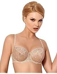 4049b9c2d0 WIESMANN Women Lingerie Underwired Sheer Soft Bra B-224 Tess Richly  Embroidered (Chest 30