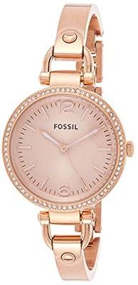 Fossil ES3226 de cuarzo para mujer con correa de acero inoxidable, color rosa