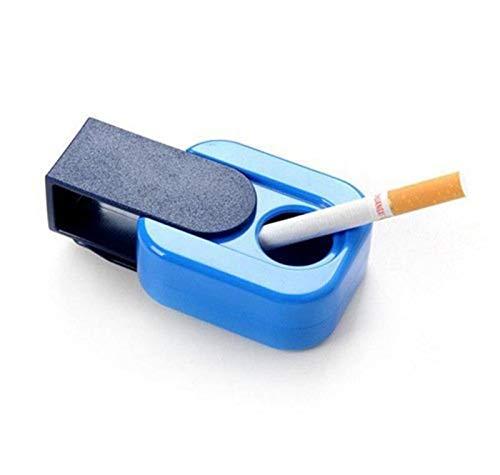 Gfjfd posacenere portatili per esterni materiale abs completamente recintato gadget per la casa spingere il coperchio posacenere per portacenere viaggio fumare