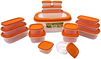 Princeware SF Packing Container, 17-Pieces, Orange