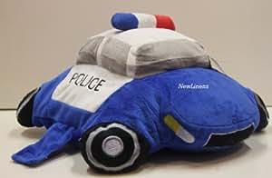 """Voiture de police 16 """" Cuddle Peluche Coussin Peluche Douce 40 cm 2 Fonctions en 1 Pets Pillow My Animal"""