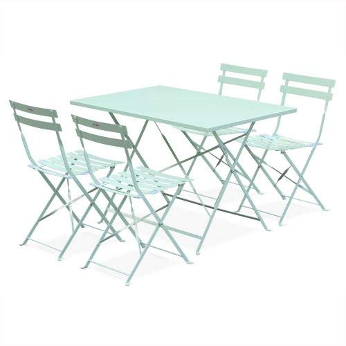 Mobilier jardin anis