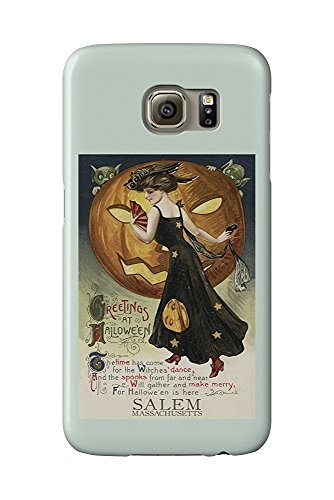 - Halloween Witch Dance - Vintage Postcard (Galaxy S6 Cell Phone Case, Slim Barely There) ()