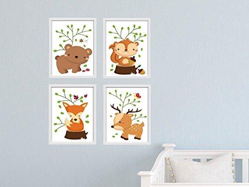 Bild Set Waldtiere DIN A4 Tiere Wandbild K031