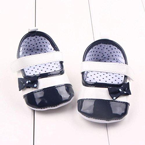 kingko® Bowknot Dekor Anti-Rutsch-Herbst-Baby-Mädchen täglich Säuglingsschuhe Schwarz
