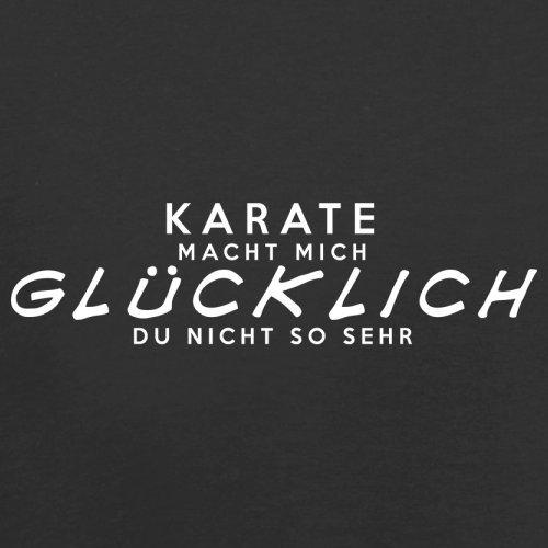 Karate macht mich glücklich - Unisex Pullover/Sweatshirt - 8 Farben Schwarz