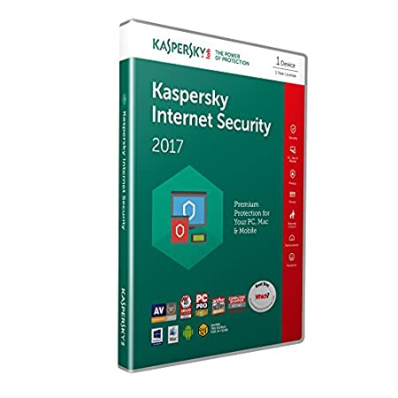 Kaspersky Internet Security 2017 | 1 Device | 1 Year | PC/Mac/Android | Retail Box