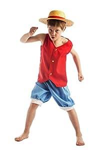 One Piece - 59197 - Costume - Panoplie Luffy Avec Chapeau Sous Housse Luxe 8-10