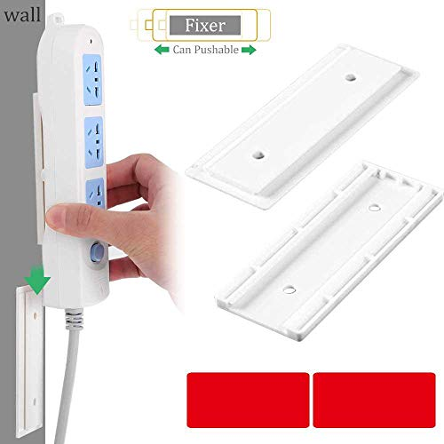MOGOI Selbstklebende Steckdosenleiste zur Wandmontage, einfachste Halterung für Steckdosenleiste/WLAN-Router und Fernbedienung (Keine unordentlichen Schrauben), kein Überspannungsschutz - Outlet-rack Power Strip