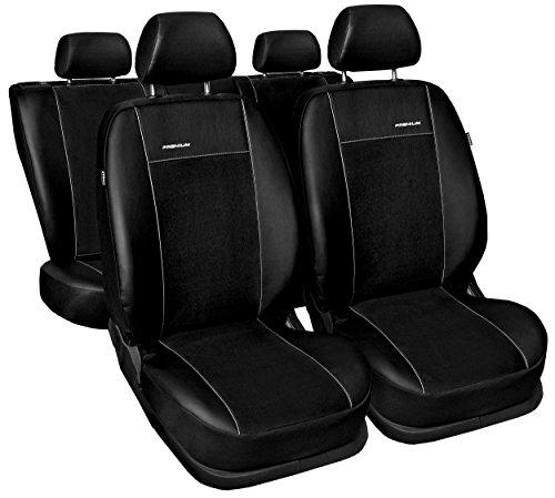 Sitzbezüge Auto universal Set Autositzbezüge Schonbezüge schwarz Vordersitze und Rücksitze mit Airbag System - Premium A