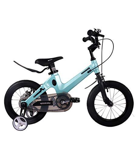SJSF Y Kinder Fahrrad 12/14/16/18 Zoll, Rad Magnesiumlegierung Rahmen Baby Sicherheit Scheibenbremse Suspension Fahrrad für Mädchen und Jungen ab 3 Jahre,14inches