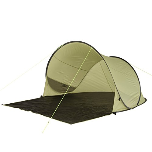 10T Pop-Up Strandmuschel Trinidad UV 80 Strandzelt 3 Mann Sonnenschutz XL Familien Windschutz Zelt -