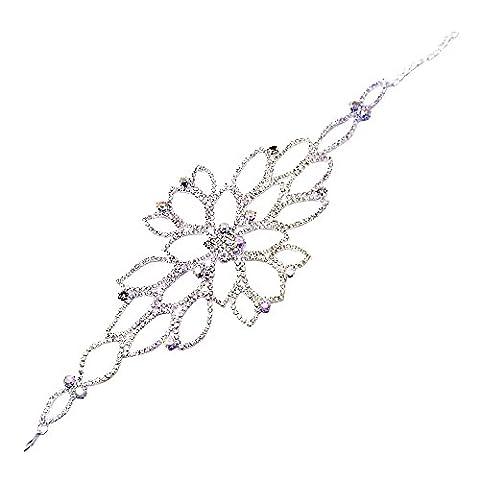 Contever® Damen Armbänder Armreif Bracelet Harness mit Ring für Charme Wedding Kleid Prom Party Zubehör (Stil 3)