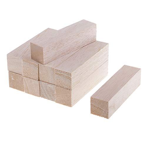 IPOTCH Balsaholz Blöcke Holz Quadrat Blöcke Spielsteine Bastelholz Modellholz Würfel Für Handwerk Basteln - Holz, 10pcs 120mm (Für Handwerk Holz-blöcke)