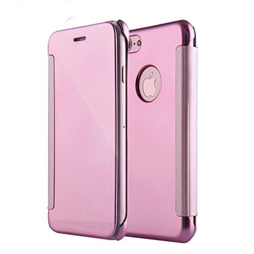 AURSEN® El último y Más Caliente Iphone 7 Plus Espejo de Perspectiva Cubierta Protectora a Prueba de Polvo y a Prueba de Golpes Elegante y Decente, Rosa de Oro