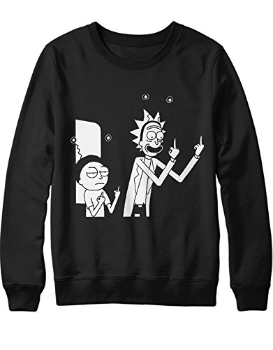 Sweatshirt Rick Fuck You C000037 Schwarz