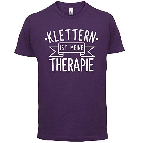 Klettern ist meine Therapie - Herren T-Shirt - 13 Farben Lila