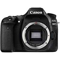 Canon EOS 80D 24.2 Digital SLR Camera Body (Black)