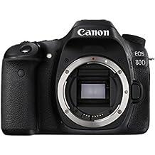 Canon EOS 80D SLR Camera Body 24.2MP CMOS 6000 x 4000pixels Black - Digital Cameras (24.2 MP, 6000 x 4000 pixels, CMOS, Full HD, 650 g, Black)