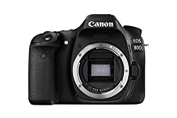 Canon EOS 80D 24.2MP Digital SLR Camera (Black) Body Only