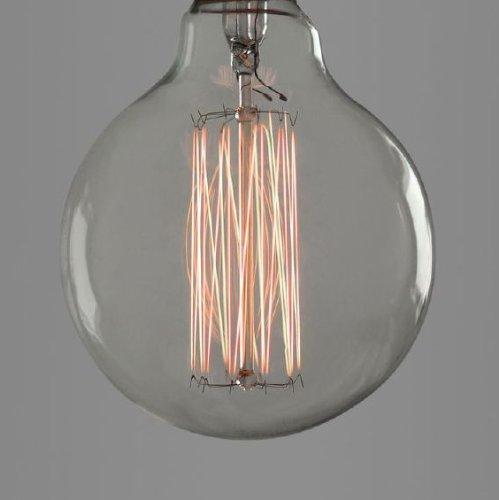 Nostalgia Lights g 95-19.ES40 Globe Gabbia per scoiattoli Speciality lampadina, in vetro, colore: argento, E27, (Argento Gabbia)