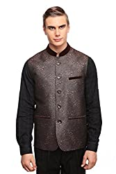 Fine Jacquard Weaved Nehru Jacket