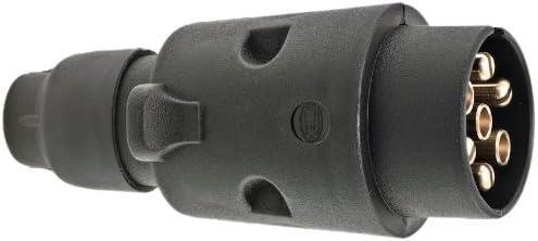 Hella 8JA 001 930-001 Stecker, Schraubkontakt mit Zugentlastung, 7 –polig, bei 12 V Belastung 16 A