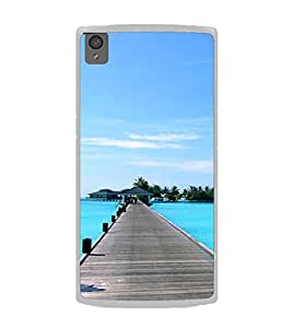 Wooden Sea Bridge 2D Hard Polycarbonate Designer Back Case Cover for OnePlus X :: One Plus X :: One+X