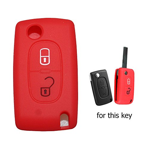 muchkey-silicone-key-case-cover-skin-jacket-fit-for-peugeot-2-button-flip-remote-key-1pc-red
