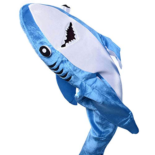Shark Kostüm Kinder - MAyouth Shark Tier Onesies - Erwachsene Kinder Overall Cosplay Kostüm Shark Stage Kleidung Kostüm Halloween Weihnachten Requisiten