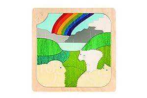 Hape- Puzzle encajable Infantil Capas Primavera-Otoño (Barrutoys E6518)